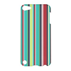 Colorful Striped Background  Apple Ipod Touch 5 Hardshell Case by TastefulDesigns