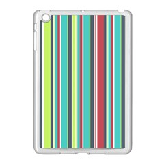 Colorful Striped Background  Apple Ipad Mini Case (white) by TastefulDesigns