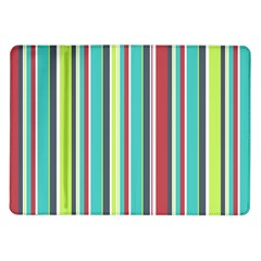 Colorful Striped Background  Samsung Galaxy Tab 10 1  P7500 Flip Case by TastefulDesigns