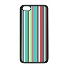 Colorful Striped Background  Apple Iphone 5c Seamless Case (black) by TastefulDesigns