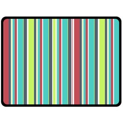 Colorful Striped Background  Double Sided Fleece Blanket (large)  by TastefulDesigns