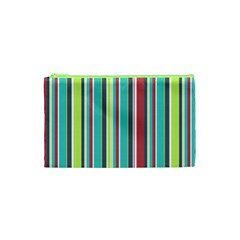 Colorful Striped Background  Cosmetic Bag (xs) by TastefulDesigns