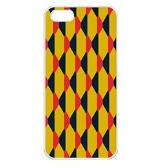 Triangles Pattern Apple Iphone 5 Seamless Case (white) by LalyLauraFLM