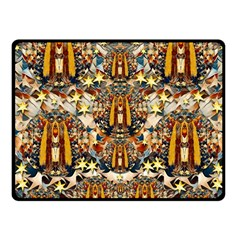 Lady Panda Goes Into The Starry Gothic Night Fleece Blanket (small) by pepitasart