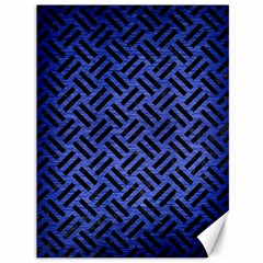 Woven2 Black Marble & Blue Brushed Metal (r) Canvas 36  X 48  by trendistuff
