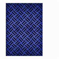 Woven2 Black Marble & Blue Brushed Metal (r) Small Garden Flag (two Sides) by trendistuff
