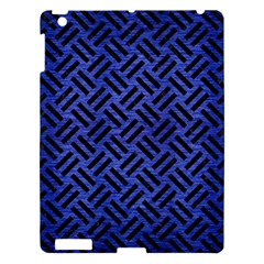 Woven2 Black Marble & Blue Brushed Metal (r) Apple Ipad 3/4 Hardshell Case by trendistuff