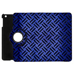 Woven2 Black Marble & Blue Brushed Metal (r) Apple Ipad Mini Flip 360 Case by trendistuff