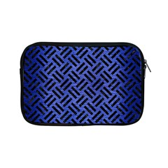 Woven2 Black Marble & Blue Brushed Metal (r) Apple Ipad Mini Zipper Case by trendistuff