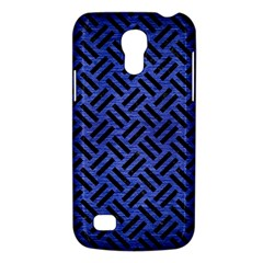 Woven2 Black Marble & Blue Brushed Metal (r) Samsung Galaxy S4 Mini (gt I9190) Hardshell Case  by trendistuff