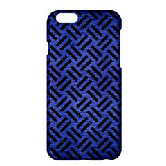 Woven2 Black Marble & Blue Brushed Metal (r) Apple Iphone 6 Plus/6s Plus Hardshell Case by trendistuff