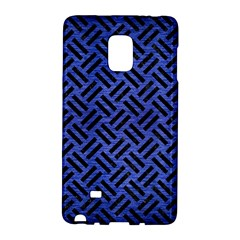 Woven2 Black Marble & Blue Brushed Metal (r) Samsung Galaxy Note Edge Hardshell Case by trendistuff