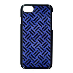 Woven2 Black Marble & Blue Brushed Metal (r) Apple Iphone 7 Seamless Case (black) by trendistuff