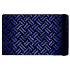 Woven2 Black Marble & Blue Brushed Metal Apple Ipad 3/4 Flip Case by trendistuff