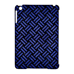 Woven2 Black Marble & Blue Brushed Metal Apple Ipad Mini Hardshell Case (compatible With Smart Cover) by trendistuff