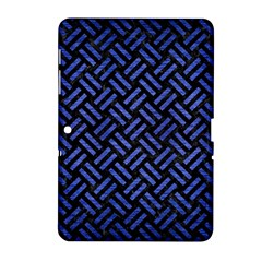 Woven2 Black Marble & Blue Brushed Metal Samsung Galaxy Tab 2 (10 1 ) P5100 Hardshell Case  by trendistuff