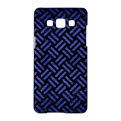 Woven2 Black Marble & Blue Brushed Metal Samsung Galaxy A5 Hardshell Case  by trendistuff