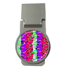 Colorful Glitch Pattern Design Money Clips (round)  by dflcprints