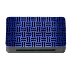 Woven1 Black Marble & Blue Brushed Metal (r) Memory Card Reader With Cf by trendistuff