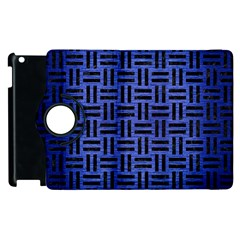 Woven1 Black Marble & Blue Brushed Metal (r) Apple Ipad 3/4 Flip 360 Case by trendistuff