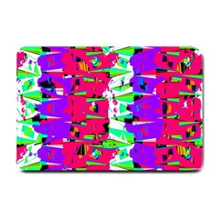 Colorful Glitch Pattern Design Small Doormat  by dflcprints