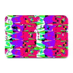 Colorful Glitch Pattern Design Plate Mats by dflcprints