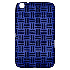 Woven1 Black Marble & Blue Brushed Metal (r) Samsung Galaxy Tab 3 (8 ) T3100 Hardshell Case  by trendistuff