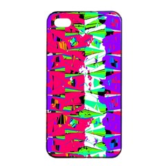 Colorful Glitch Pattern Design Apple Iphone 4/4s Seamless Case (black) by dflcprints