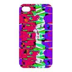 Colorful Glitch Pattern Design Apple Iphone 4/4s Hardshell Case by dflcprints