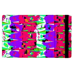 Colorful Glitch Pattern Design Apple Ipad 2 Flip Case by dflcprints