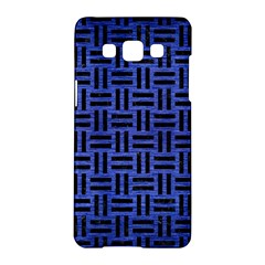 Woven1 Black Marble & Blue Brushed Metal (r) Samsung Galaxy A5 Hardshell Case  by trendistuff