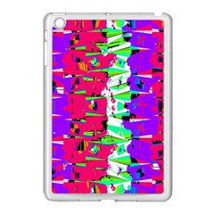Colorful Glitch Pattern Design Apple Ipad Mini Case (white) by dflcprints