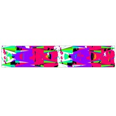 Colorful Glitch Pattern Design Flano Scarf (large)  by dflcprints