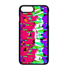 Colorful Glitch Pattern Design Apple Iphone 7 Plus Seamless Case (black) by dflcprints
