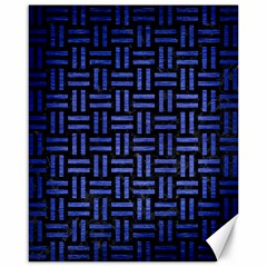 Woven1 Black Marble & Blue Brushed Metal Canvas 16  X 20  by trendistuff