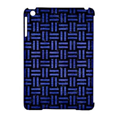 Woven1 Black Marble & Blue Brushed Metal Apple Ipad Mini Hardshell Case (compatible With Smart Cover) by trendistuff