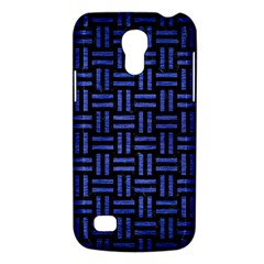 Woven1 Black Marble & Blue Brushed Metal Samsung Galaxy S4 Mini (gt I9190) Hardshell Case  by trendistuff