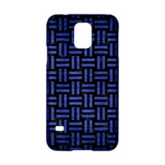 Woven1 Black Marble & Blue Brushed Metal Samsung Galaxy S5 Hardshell Case  by trendistuff