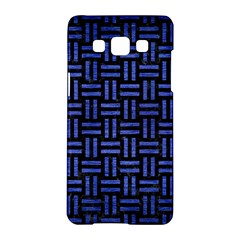 Woven1 Black Marble & Blue Brushed Metal Samsung Galaxy A5 Hardshell Case  by trendistuff