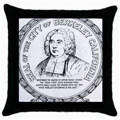 Seal Of Berkeley, California Throw Pillow Case (black) by abbeyz71