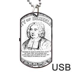 Seal Of Berkeley, California Dog Tag Usb Flash (one Side) by abbeyz71