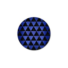 Triangle3 Black Marble & Blue Brushed Metal Golf Ball Marker (4 Pack) by trendistuff
