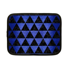 Triangle3 Black Marble & Blue Brushed Metal Netbook Case (small) by trendistuff