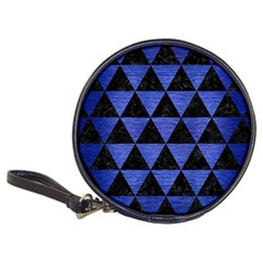 Triangle3 Black Marble & Blue Brushed Metal Classic 20 Cd Wallet by trendistuff