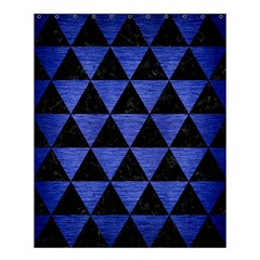 Triangle3 Black Marble & Blue Brushed Metal Shower Curtain 60  X 72  (medium) by trendistuff