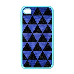 Triangle3 Black Marble & Blue Brushed Metal Apple Iphone 4 Case (color) by trendistuff