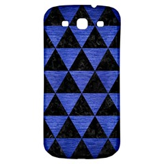 Triangle3 Black Marble & Blue Brushed Metal Samsung Galaxy S3 S Iii Classic Hardshell Back Case by trendistuff