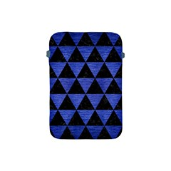 Triangle3 Black Marble & Blue Brushed Metal Apple Ipad Mini Protective Soft Case by trendistuff