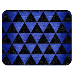 Triangle3 Black Marble & Blue Brushed Metal Double Sided Flano Blanket (medium) by trendistuff