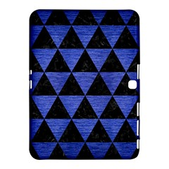 Triangle3 Black Marble & Blue Brushed Metal Samsung Galaxy Tab 4 (10 1 ) Hardshell Case  by trendistuff